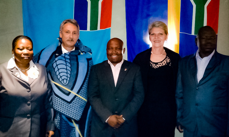 Left to Right: Thato Matlanyane (1st Vice President - IPA Lesotho), H Vossie Vos, Thato Mokoteli (Secretary General - IPA Lesotho) Dirkie Vos, Tumisang Bereng (Treasurer – IPA Lesotho).