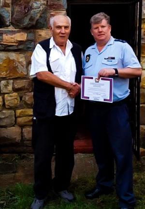 Harry Berman receives his 30 Year IPA Membership Certificate